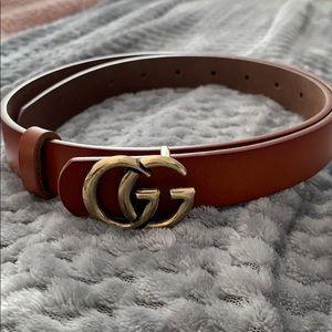 Brown Double G Fashion belt